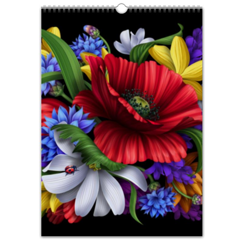 Перекидной Календарь А3 Printio Композиция цветов композиция из цветов и конфет