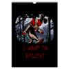 """Перекидной Календарь А3 """"Клоун - i want to believe"""" - хэллоуин, клоун, i want to believe, clown, оно"""