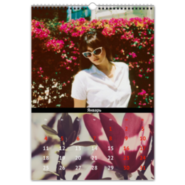 """Перекидной Календарь А3 """"LANA DEL REY- HONEYMOON """" - lana del rey, лана дель рей, цветы, honeymoon"""