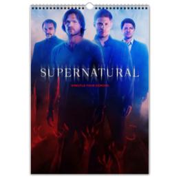 """Перекидной Календарь А3 """"Сверхъестественное / Supernatural"""" - рисунок, кино, сериал, сверхъестественное"""