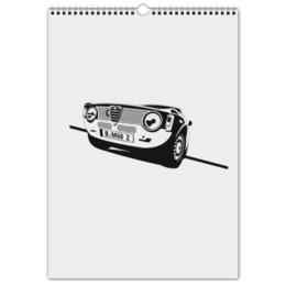 """Перекидной Календарь А3 """"Retro Alfa Romeo Racing"""" - ретро, авто, машина, гонки, alfa romeo"""
