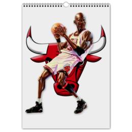 """Перекидной Календарь А3 """"Michael Jordan Cartooney"""" - 23, чикаго, бык, chicago bulls, джордан"""