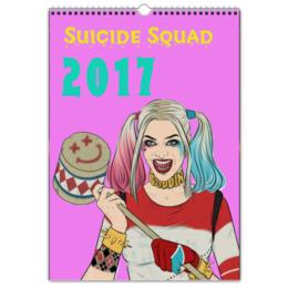 """Перекидной Календарь А3 """"Отряд самоубийц / Suicide Squad"""" - комиксы, харли квин, отряд самоубийц"""