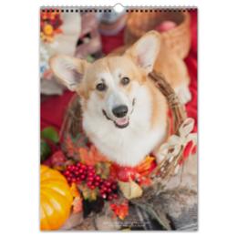 "Перекидной Календарь А3 ""Корги"" - собаки, корги, вельшкорги, corgi, коржики"