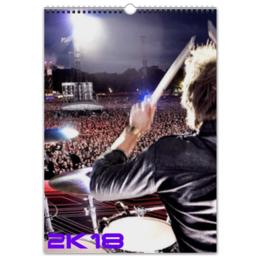 """Перекидной Календарь А3 """"Drums New Year"""" - music, новый год, drums, день рождения, new year"""