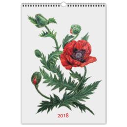 """Перекидной Календарь А3 """"Цветочный мир"""" - новый год, цветы, растения, календарь, 2018"""