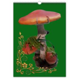 """Перекидной Календарь А3 """"грибные сказки"""" - грибы, сказочный лес, стиль"""