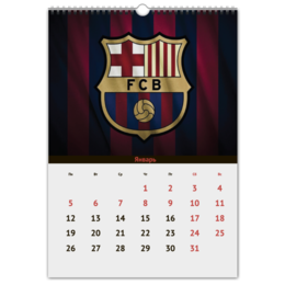 "Перекидной Календарь А3 ""FC Barcelona"" - футбол, barcelona, месси, барселона, неймар"