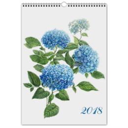 """Перекидной Календарь А3 """"Цветочный мир А3"""" - новый год, цветы, растения, календарь, 2018"""