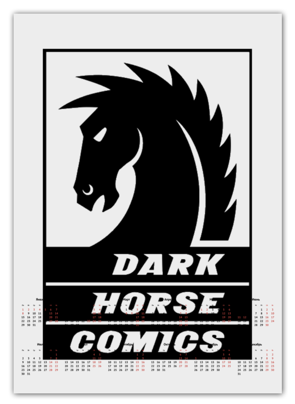 Календарь А2 Printio Dark horse comics happy toy hot sale life size horse toy mechanical horse toys walking horse toy