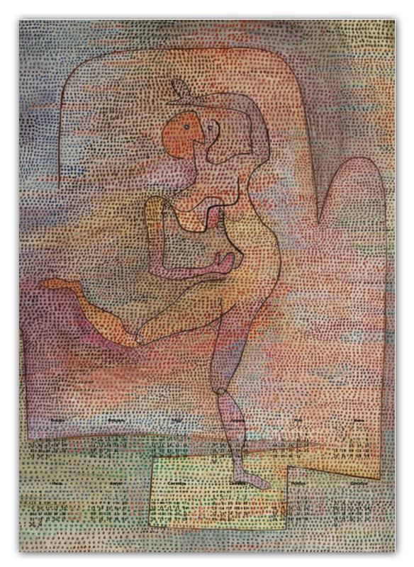 Календарь А2 Printio Танцовщица (пауль клее) paul klee paul klee