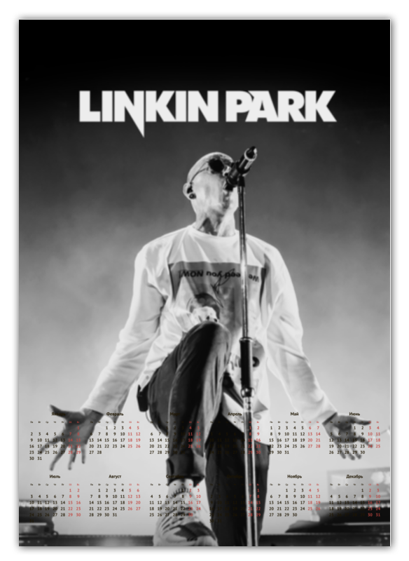 Календарь А2 Printio Linkin park приправа nagatani park 20