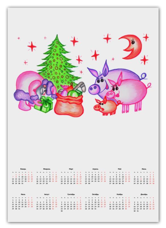 Календарь А2 Printio Внезапная встреча открытка printio новогодняя игрушка
