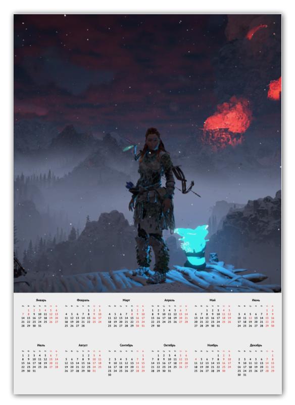 Календарь А2 Printio Horizon zero dawn