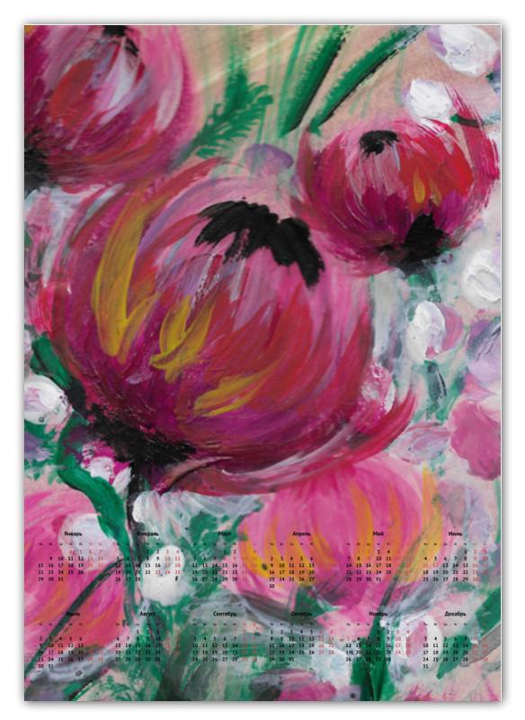 Календарь А2 Printio Полевые цветы жиглов в и цветы календарь 2019