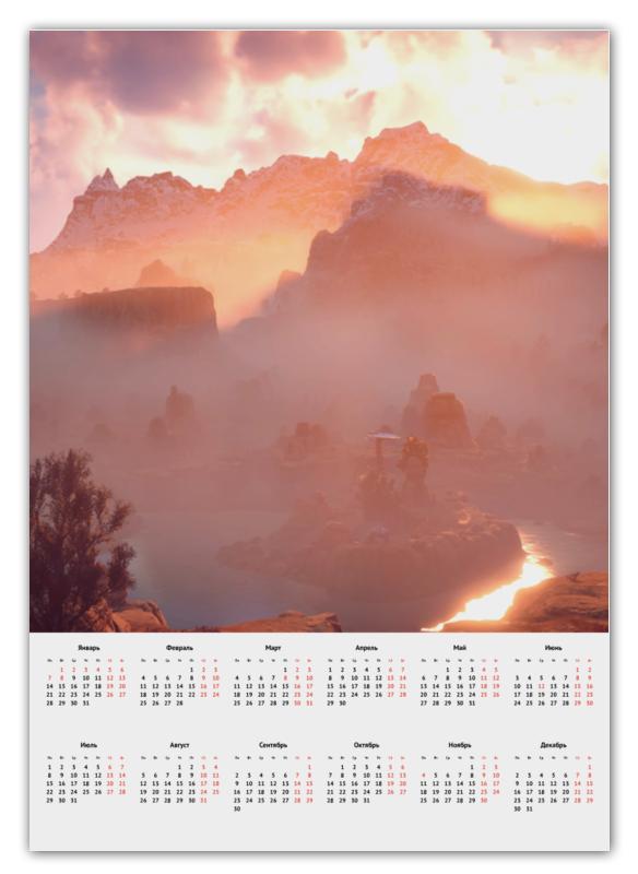 Календарь А2 Printio Horizon zero dawn цена