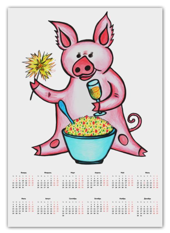 Календарь А2 Printio Год свиньи календарь 2019 г настольный 25х16 год свиньи