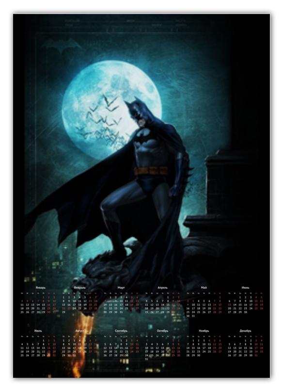 Календарь А2 Printio Batman календарь а2 printio календарь с денисом лириком