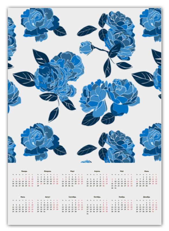 лучшая цена Printio Букет синих роз