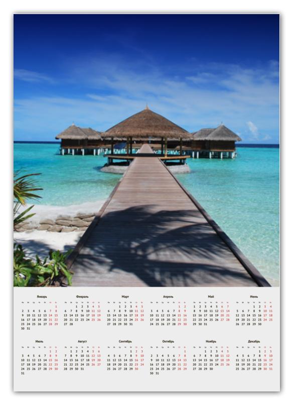 игровые домики Календарь А2 Printio Домики на море