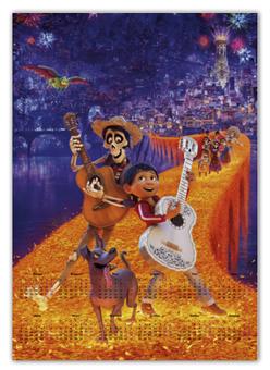 """Календарь А2 """"Тайна Коко"""" - музыка, мультфильм, дисней, приключения, тайна коко"""
