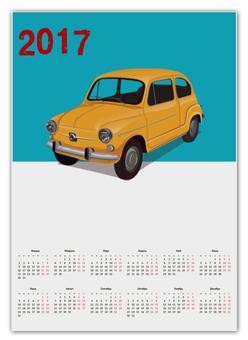 "Календарь А2 ""Ретро авто"" - рисунок, винтаж, автомобиль, ретро авто, старый автомобиль"