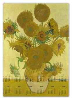 "Календарь А2 ""Подсолнухи (Винсент Ван Гог)"" - картина, ван гог"