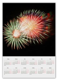 """Календарь А2 """"салют"""" - абстракция, салют, фейерверк"""