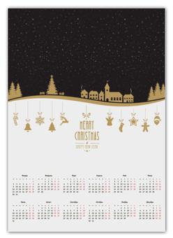 "Календарь А2 ""Merry Christmas and happy NY"" - праздник, подарок, рождество, merry christmas, 2017"