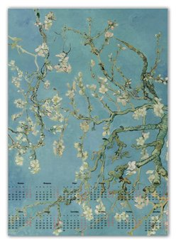 "Календарь А2 ""Цветы миндаля (Ван Гог)"" - картина, ван гог"