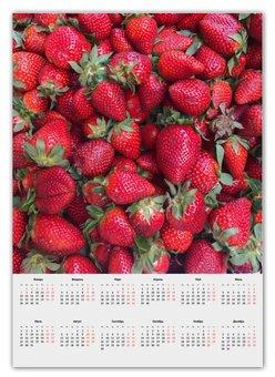 """Календарь А2 """"Лето!"""" - лето, счастье, клубника, земляника, виктория"""