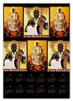 """Календарь А2 """"Coltrane"""" - music, день рождения, coltrane, saxophone, new year"""