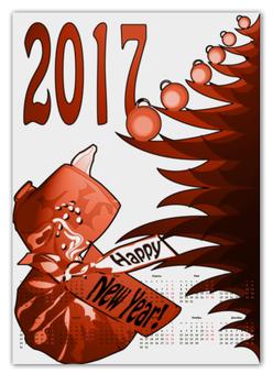 """Календарь А2 """"Новогодний сюрприз"""" - новый год, подарок, сюрприз, новогодний, 2017"""