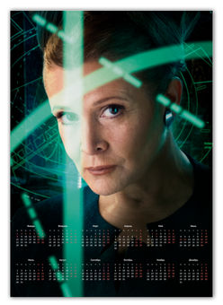 """Календарь А2 """"Звездные войны - Лея"""" - кино, фантастика, star wars, звездные войны, дарт вейдер"""