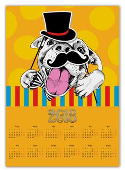 """Календарь А2 """"Собака"""" - новый год, собака"""