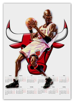 "Календарь А2 ""Michael Jordan Cartooney"" - 23, чикаго, бык, chicago bulls, джордан"