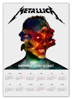 """Календарь А2 """"Metallica"""" - music, metal, день рождения, new year, metallica"""
