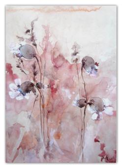 """Календарь А2 """"Осенние цветы"""" - цветок, графика, оригинальный, акварель, нежный"""