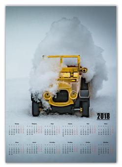 "Календарь А2 ""ретро-авто"" - зима, авто, снег, автомобиль, ретроавто"