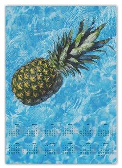 """Календарь А2 """"Лето!"""" - лето, радость, ананас, бассейн, сладкий ананас"""