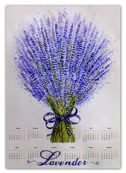 """Календарь А2 """"Лаванда"""" - цветы, рисунок, лаванда"""