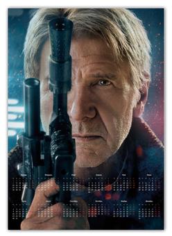"""Календарь А2 """"Звездные войны - Хан Соло"""" - кино, фантастика, star wars, звездные войны, дарт вейдер"""