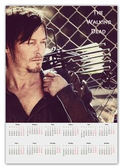 """Календарь А2 """"The Walking Dead Daryl Dixon"""" - ходячие мертвецы, дэрил, диксон"""
