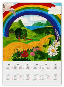 """Календарь А2 """"Прекрасный день"""" - дети, детское, ручная работа, детский рисунок, детская работа"""