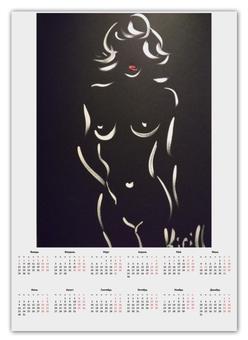 """Календарь А2 """"Силуэт"""" - чернобелое, ню, минимализм, суханов кирилл"""