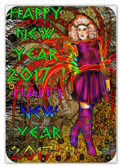 "Календарь А2 ""Новогодний маскарад"" - новый год, карнавал, маскарад, 2017, новогодний костюм"