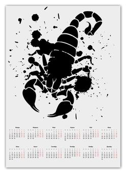 """Календарь А2 """"Скорпион (24.10-21.11)"""" - крутой, оригинальный, стильный, скорпион, биология"""