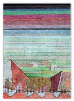 "Календарь А2 ""Вид на плодородную страну (картина Клее)"" - картина, живопись, авангард, клее"