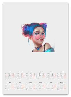 "Календарь А2 ""Календарь"" - мир, люб"