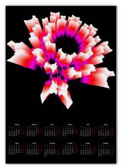 """Календарь А2 """"Раскаленный Лед"""" - новый год, абстракция, кристалл, digital art, спектр"""